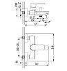 Смеситель для ванны VOLLE FIESTA 15152100 хром, фото 2