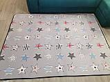 """Безкоштовна доставка! Килим в дитячу """"Круті зірки"""" утеплений килимок мат (1.5*2 м), фото 4"""