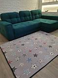 """Безкоштовна доставка! Килим в дитячу """"Круті зірки"""" утеплений килимок мат (1.5*2 м), фото 3"""