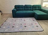 """Безкоштовна доставка! Килим в дитячу """"Круті зірки"""" утеплений килимок мат (1.5*2 м), фото 5"""