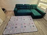 """Безкоштовна доставка! Килим в дитячу """"Круті зірки"""" утеплений килимок мат (1.5*2 м), фото 2"""