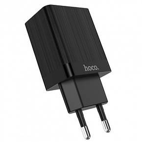 Сетевое зарядное устройство Hoco C51A 2USB 3.4A Black, фото 2