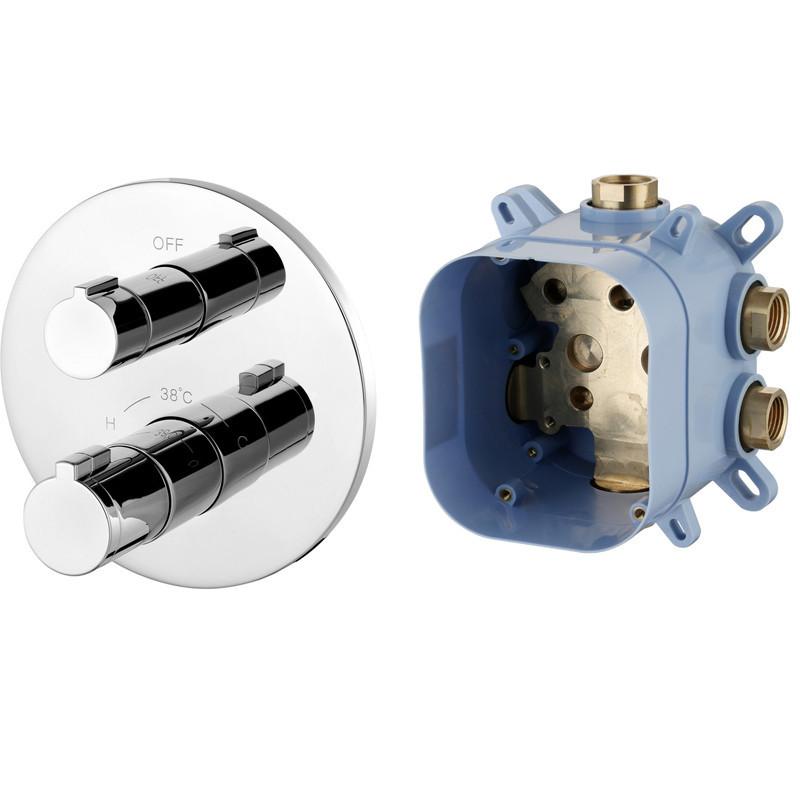 Смеситель скрытого монтажа с термостатом 1 потребитель Imprese Centrum VRB-15400Z хром