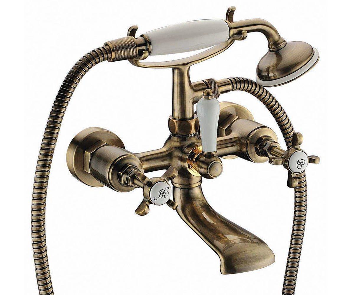 Смеситель для ванны двухвентильный Imprese Cuthna 10280 ANTIQUA-N бронза