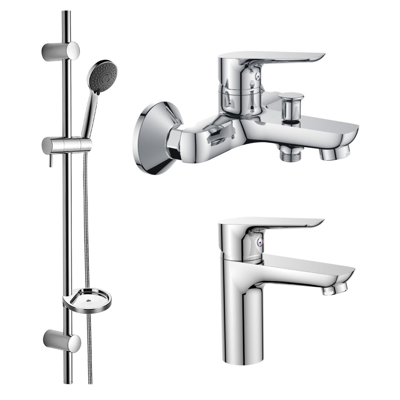 Набор смесителей для ванны 3 в 1 Imprese KIT20080 хром