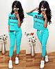 Костюм жіночий літній з вільної кофтою і укороченими штанів moschino, фото 3