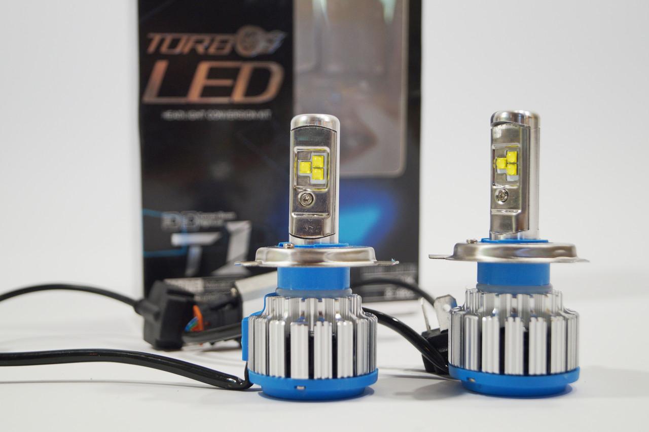 Светодидные автолампы Turbo T1 H4