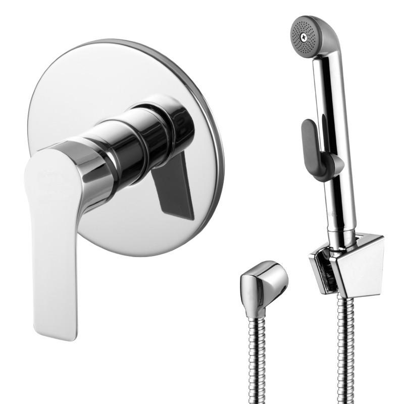 Смеситель скрытого монтажа с гигиеническим душем Imprese Kucera VR30105Z-BT хром