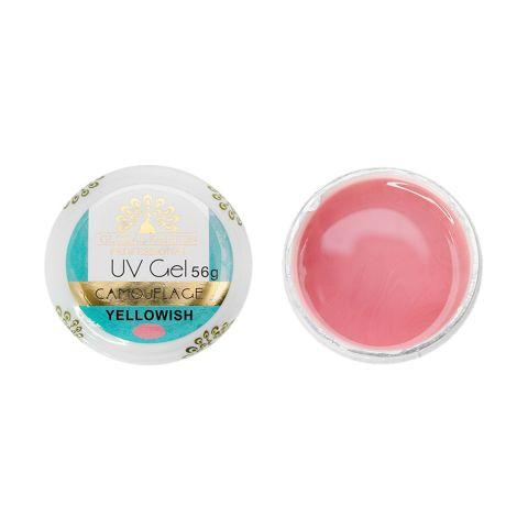 Гель Global UV Gel Yellowish Pink 56 мл, Цвет Камуфлирующий розовый