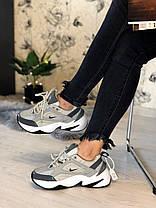 """Кросівки Nike M2K Tekno """"Сірі"""", фото 3"""