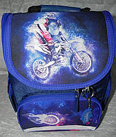 Рюкзак школьный каркасный с фонариками Bagland Успех 12л (5513 225 синий 507), фото 1