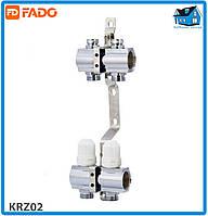 """Коллектор с запорными клапанами FADO FLOOR KRZ02 1""""х3/4"""" 2 выхода"""