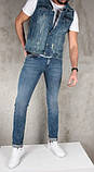Мужская джинсовая жилетка (Замеры и больше фото в живую предоставляем), фото 2