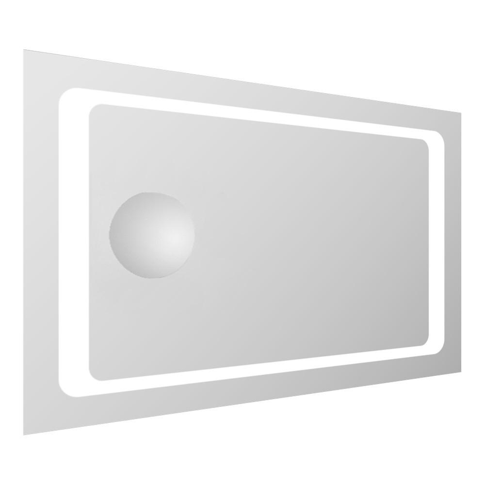 Зеркало прямоугольное 55*80см со светодиодной подсветкой и встроенным зеркалом с увеличением 3Х Volle