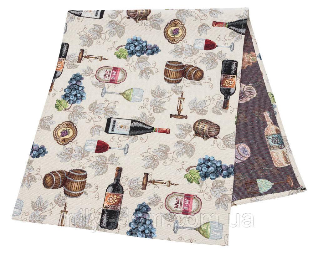 "Наперон\дорожка на стол   ""Вино"", 37х100 см"
