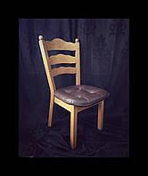Кухонные обеденные стулья с кожаным сидением (4)