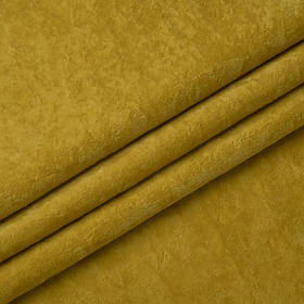 Ткань антикоготь флок Финт желтого цвета