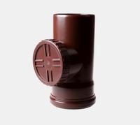 Ревизия водосточной трубы PROFiL 130/100 с решеткой