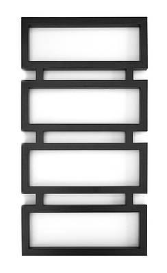 Полотенцесушитель водяной Genesis-Aqua Quattro 100x53 см черный