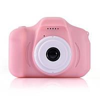 Цифровой фотоаппарат для детей, Противоударный детский фотоаппарат с видео функциями, с дисплеем (Розовый)