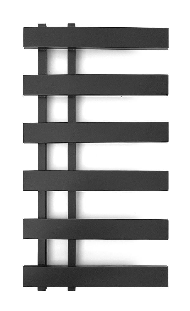 Электрический полотенцесушитель Genesis-Aqua Split 80x53 см черный