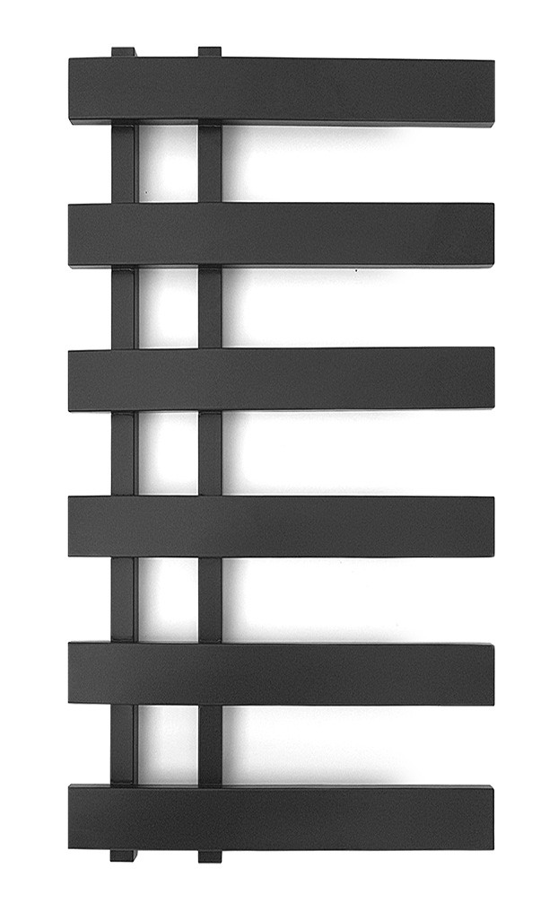 Электрический полотенцесушитель Genesis-Aqua Split 100x53 см черный