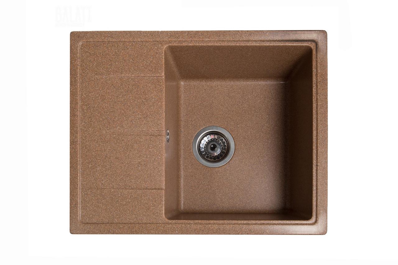 Гранитная кухонная мойка Galati Cerand Teracota (701) 3457 коричневый