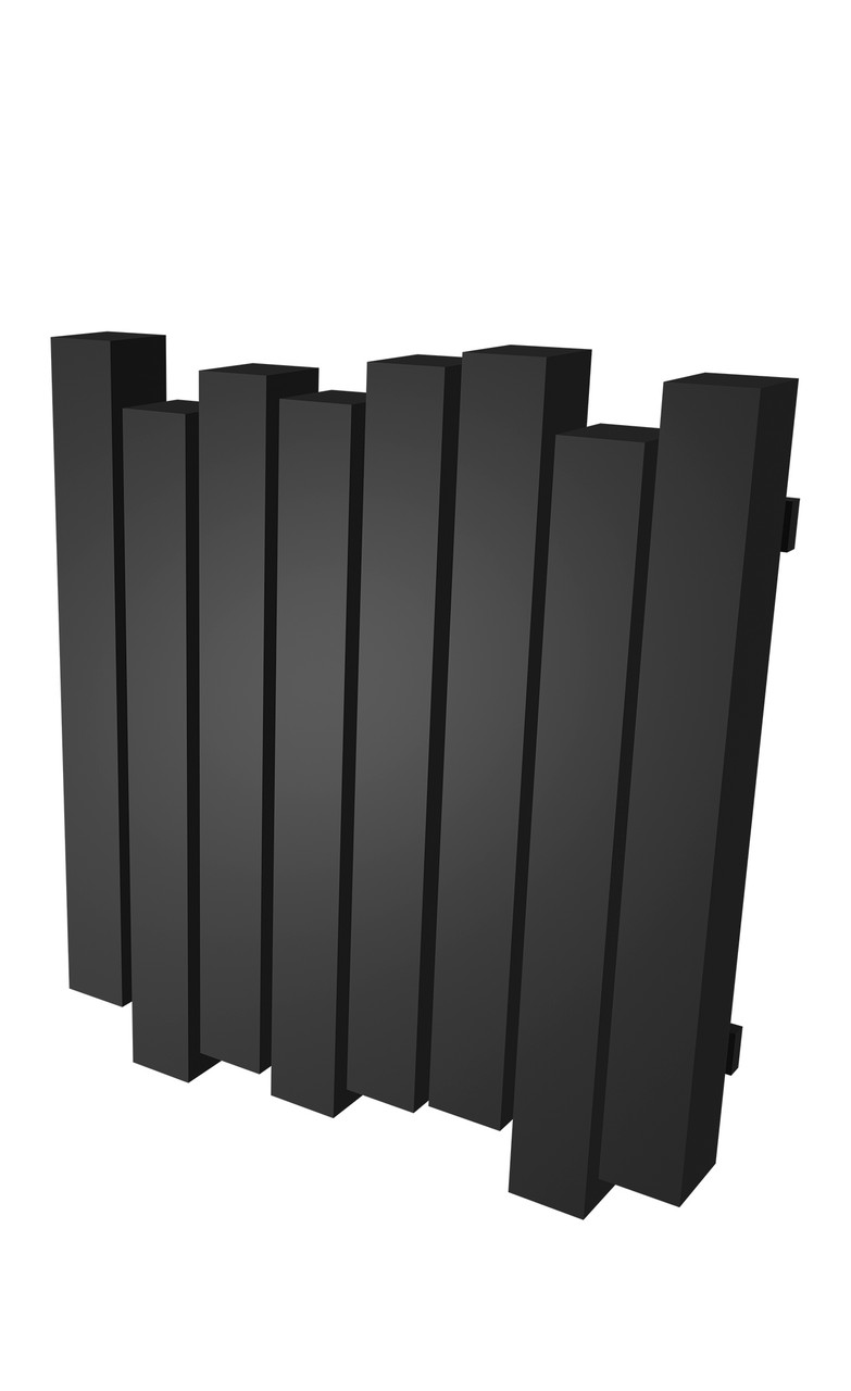 Радиатор отопления Genesis-Aqua Wave 60x80 см черный
