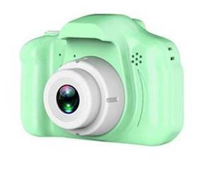 Цифровой фотоаппарат для детей, Противоударный детский фотоаппарат с видео функциями,  с дисплеем (Зеленый)