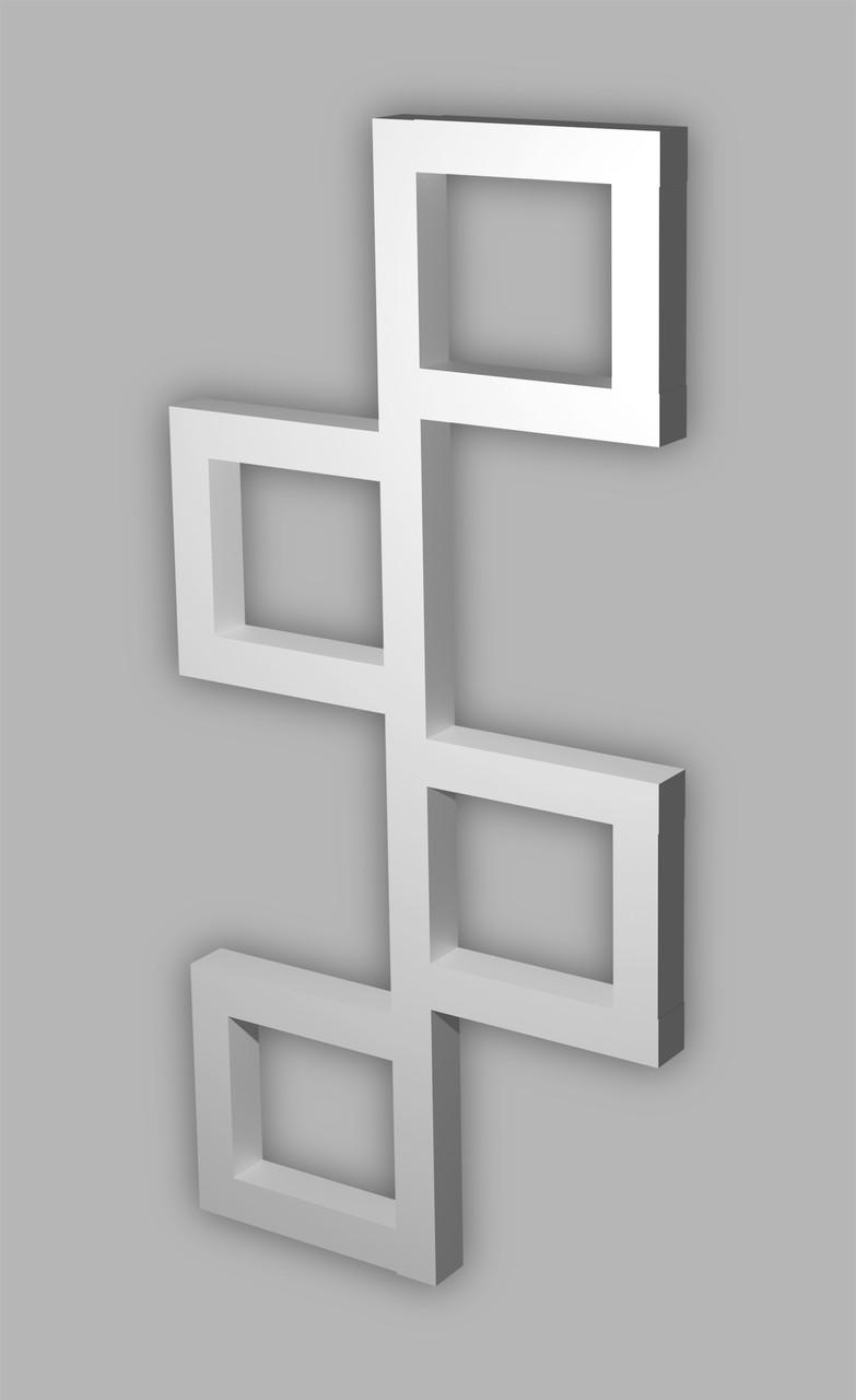 Полотенцесушитель водяной Genesis-Aqua Fito 80x53 см белый