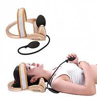 Тренажер для коррекции шейного отдела позвоночник Сervical vertebra traction, растяжной тренажер для шеи!