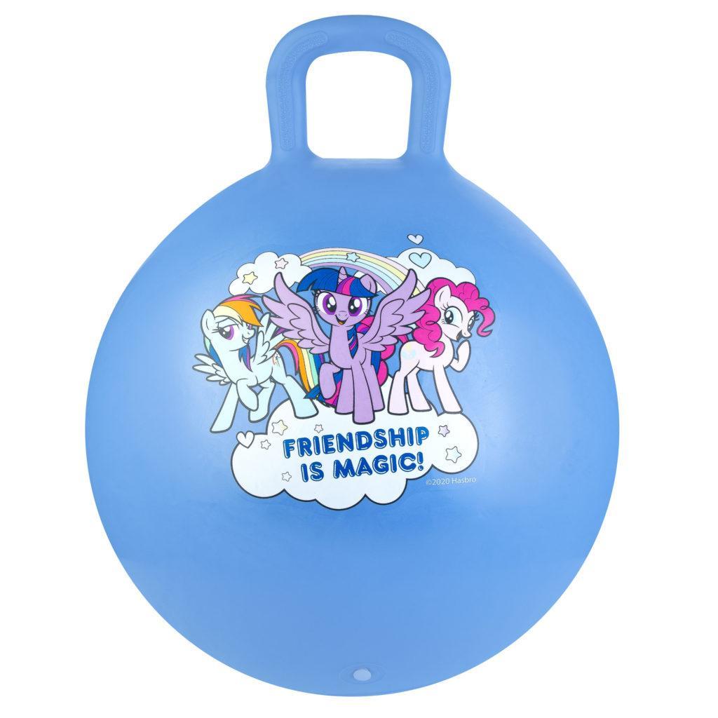 Мяч-прыгун детский с ручкой Spokey My Little Pony 45см 927216, детский фитбол, гимнастический мяч для фитнеса