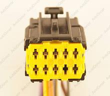 Разъем автомобильный 10-pin/контактный. Мама. 21×17 mm. Б.У