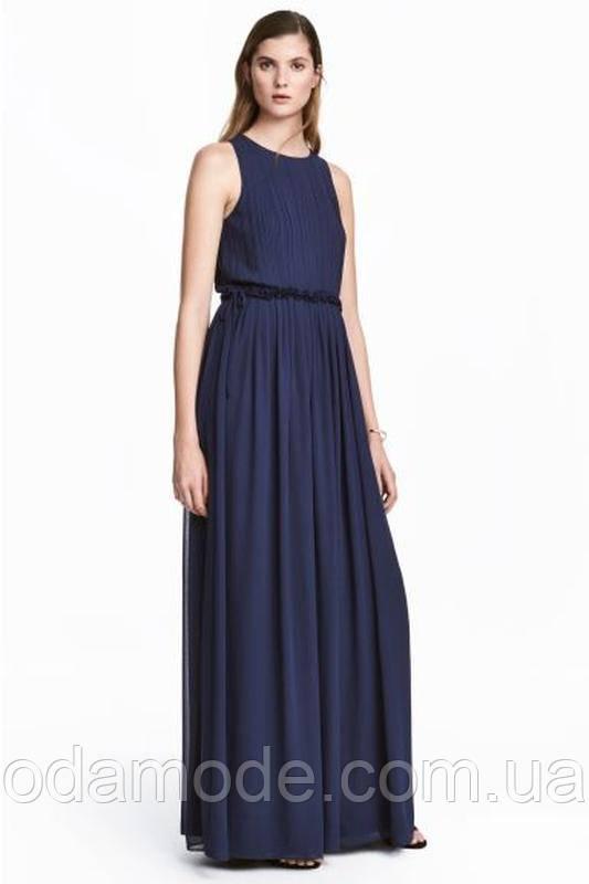 Платье женское синее h&m