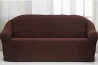 Накидка на диван №6 Темно-коричневый цвет