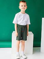 Vikamoda Дитячі шорти з кольоровими гудзиками і нашивкою 10044