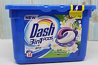 Капсули для кольорового прання Dash Witte Orchidee 14 шт