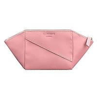 Женская косметичка из натуральной кожи (розовая)