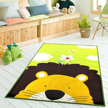 Коврик для детской комнаты антискользящий Berni Лев 100х130см Разноцветный (45977)