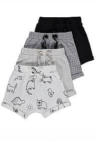 Літні трикотажні шорти для хлопчиків Gеоrge 18-24м Светло серый