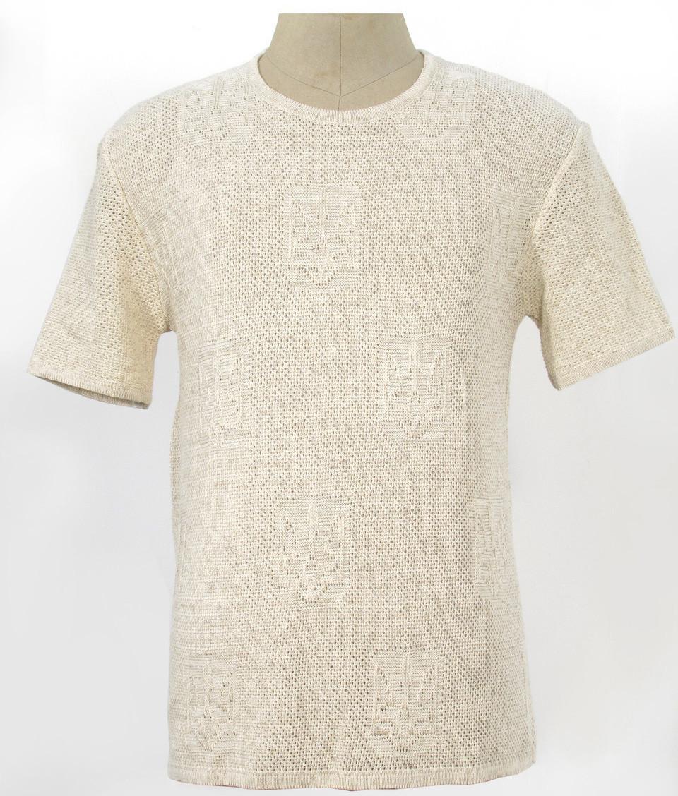 Мужская вязаная футболка из льна - Тризуб