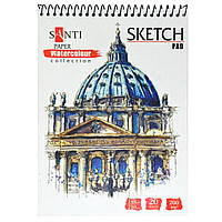 Альбом для акварели А5  Travelling 20 листов 200 г/м.кв.  Paper Watercolor Collection Santi 742606, фото 1