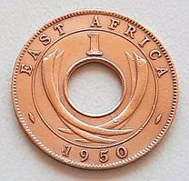 Британская Восточная Африка 1 цент 1950