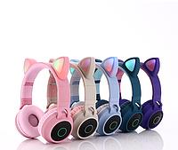 Беспроводные MP3 Наушники с Ушками с подсветкой + FM-Радио + MicroSD с микрофоном Cat Ear BT028C Bluetooth