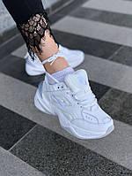 Кроссовки женские Nike M2K белые. Модные женские кроссовки Найк белого цвета. ТОП КАЧЕСТВО!!!Реплика.