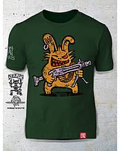 PEKLO.TOYS футболка Пекельний Зайчик з Машингвером олива
