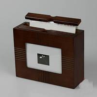 """Деревянный фотоальбом - бокс на 48 фото """"На память"""" 20х7х16см"""