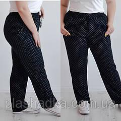 Летние женские брюки в мелкий квадратик, размеры 48,50,52,54(от производителя)