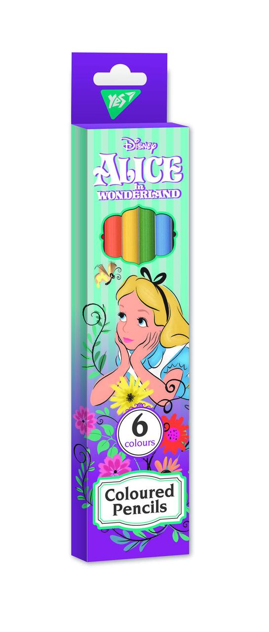 """Карандаши цветные YES 6 цв. """"Alice"""" код: 290581"""