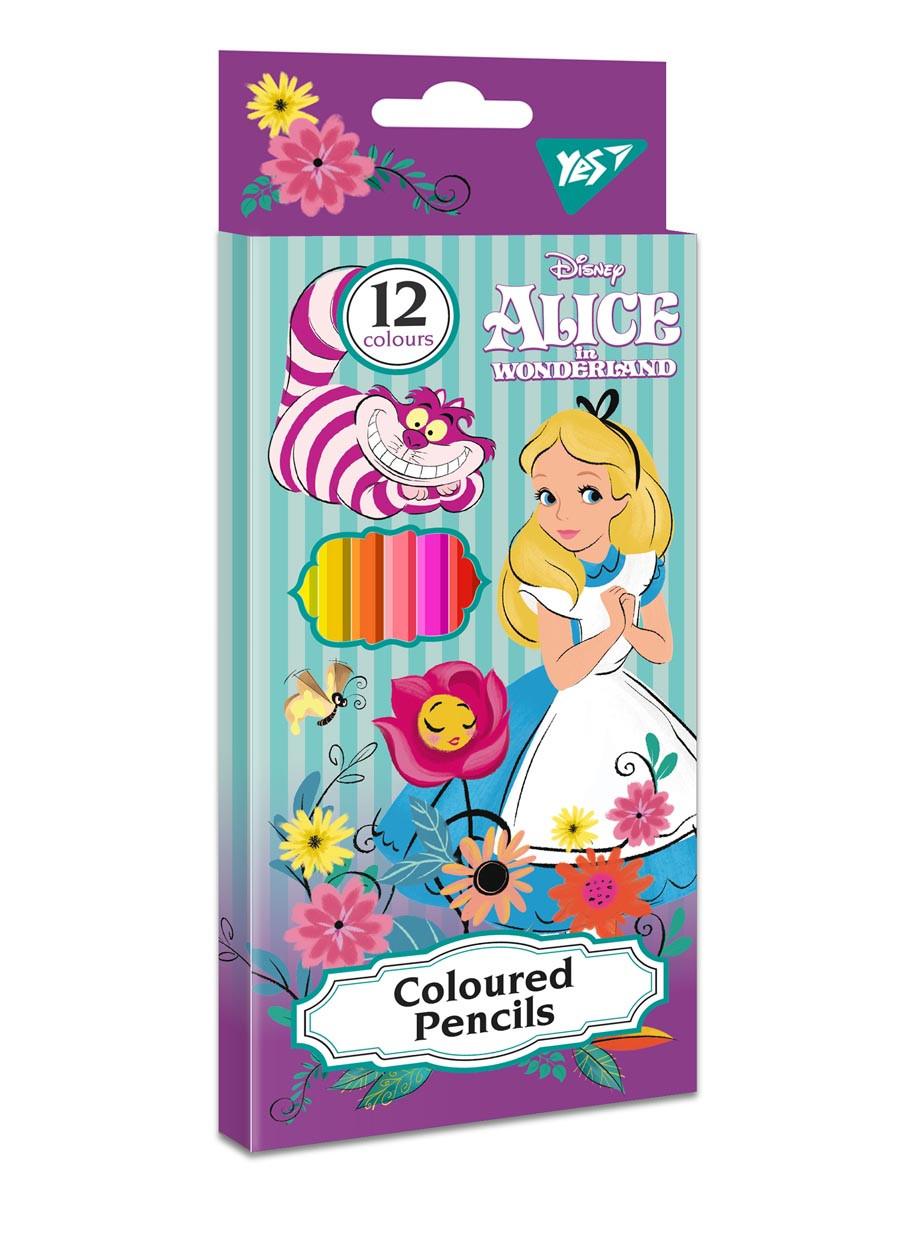 """Карандаши цветные YES 12 цв. """"Alice"""" код: 290591"""
